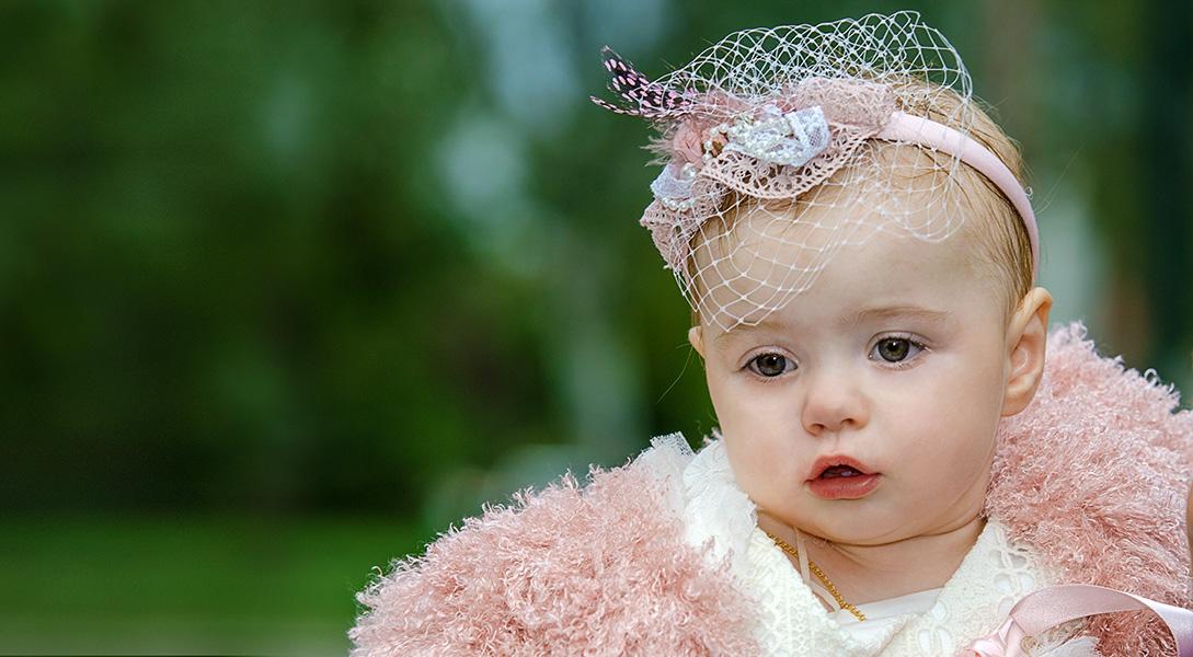 Φωτογραφία Βάπτισης κορίτσι πορτρετο